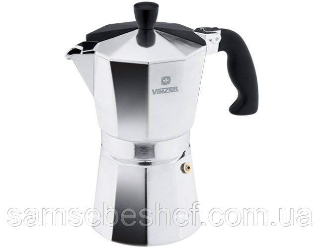 Кофеварка гейзерная Vinzer Aroma Moka 9 чашек, 89387