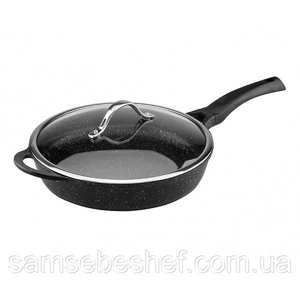 Сковорода Vinzer Premium Granite Induction 28 см, 89455