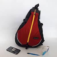 Рюкзак спортивный Onepolar 20 л W1305 на одно плечо красный