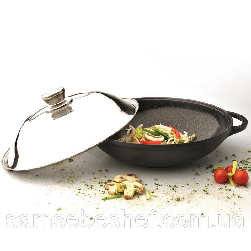 Сковорода WOK BergHOFF Geminis CastLine 32 см 5 л 2306239