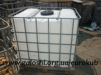 Продам б/у еврокубы в Днепропетровске — обьем 1000л мытые, выпаренные.