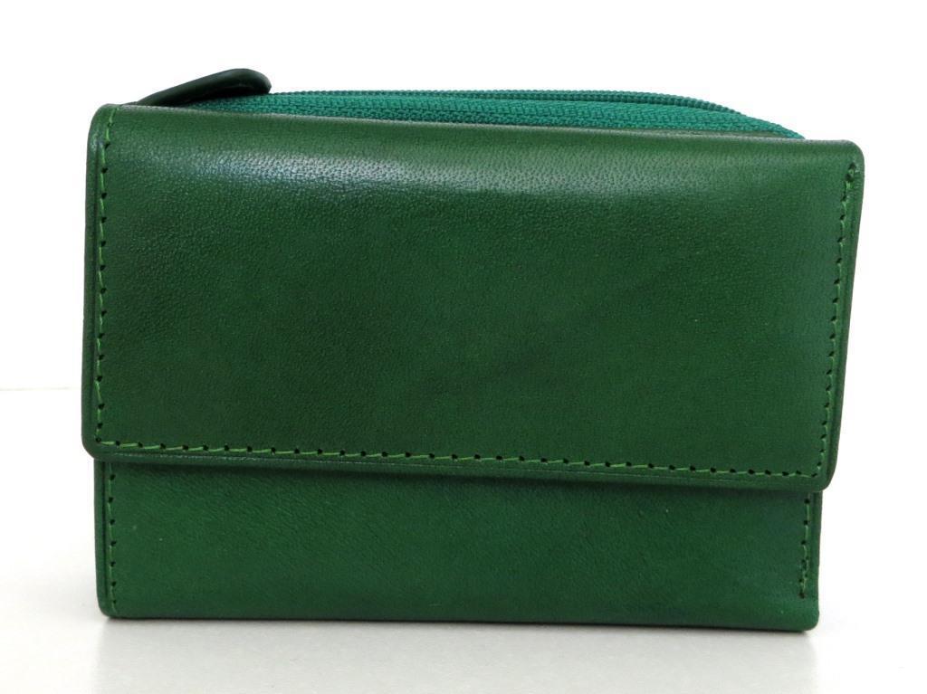 Жіночий кошельок із натуральної шкіри ( Італія)  Зелений, фото 1