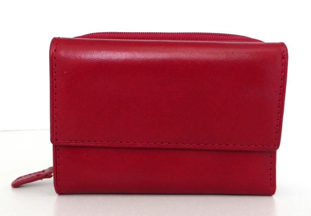 Жіночий кошельок із натуральної шкіри ( Італія)  Червоний, фото 1