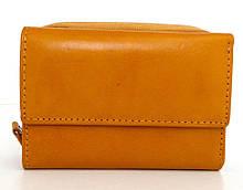 Жіночий кошельок із натуральної шкіри ( Італія)  Жовтий