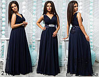 Красивое вечернее платье в пол от ТМ Balani батал  р. 48-52