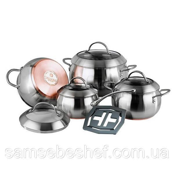 Набор кухонной посуды Vinzer Majestic Optima 9 предметов, 89041