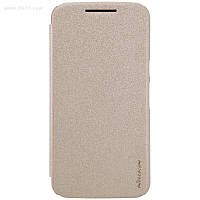 Чехол Nillkin Sparkle Leather Case для Moto g4 Plus (XT1642) Shampaign Gold