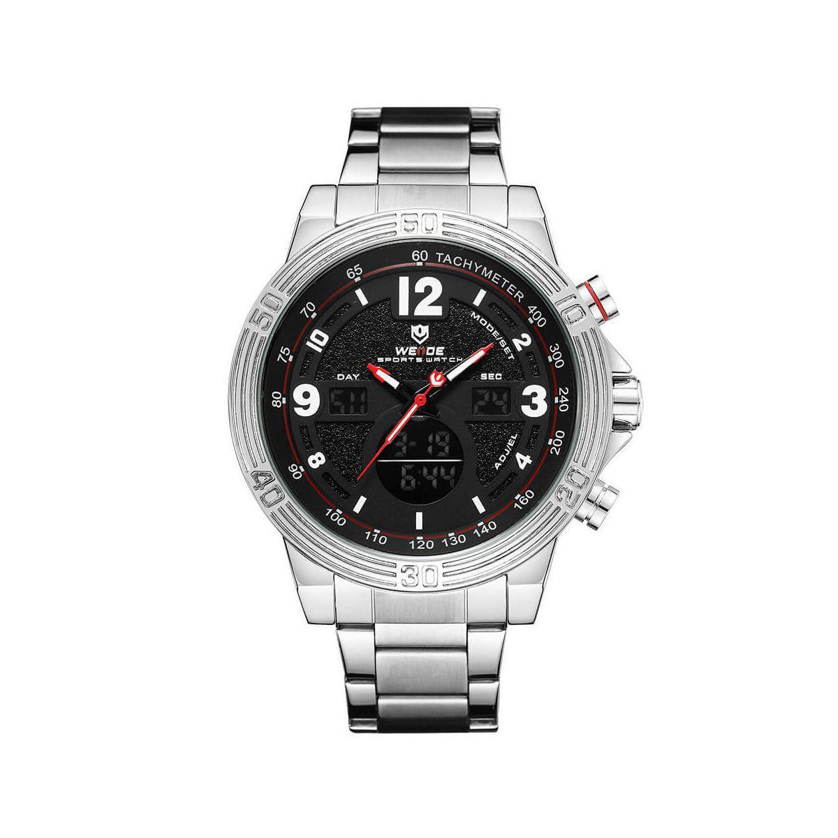 Часы Weide Black WH6908-1C SS (WH6908-1C)  558 грн. - Наручні ... b8c388e3c2300