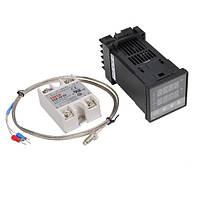 REX-C100 110-240 В 1300 Цифровой ПИД-регулятор температуры Набор с 400 градусами Зонд
