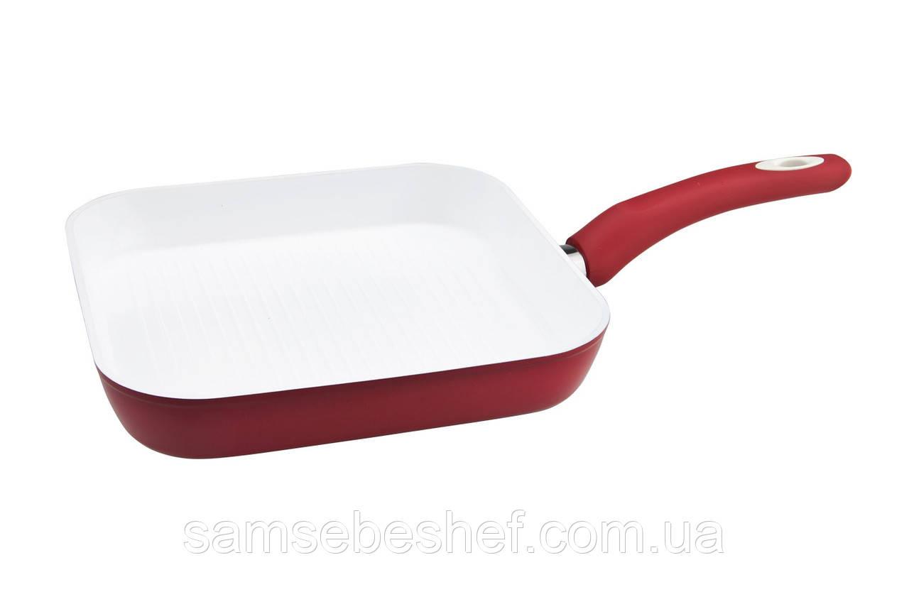 Сковорода-гриль VINZER Eco Ceramic Induction 26x26 см, 89467