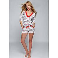 Пижама женская с шортами хлопковая Snowflake, Sensis