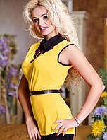Женская яркая блуза без рукавов (0707-0706-0708 svt)