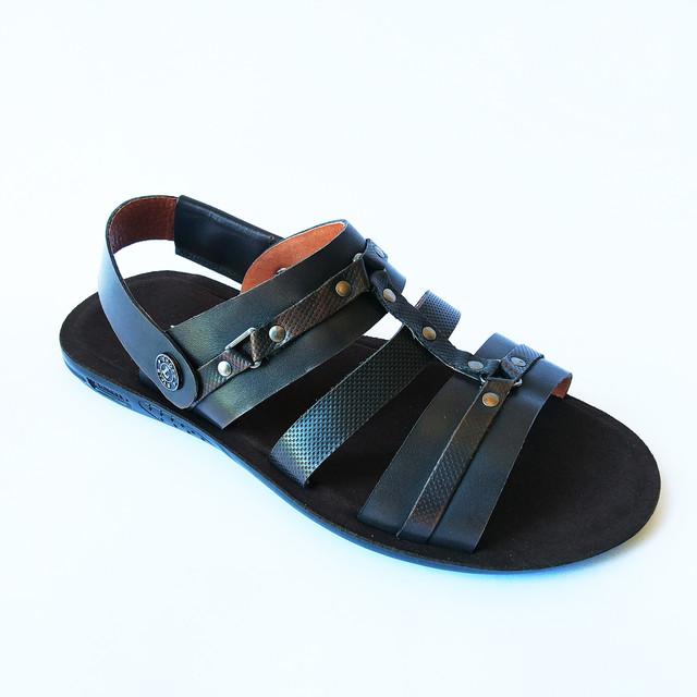 Удобные летние сандалии мужские кожаные цвета кабир от львовской обувной фабрики L-Style