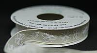 Стрічка ткана хб з орнаментом 1,5 см, фото 1