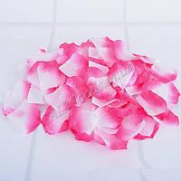 Лепестки роз искусственные 100шт./уп. Бело-розовые