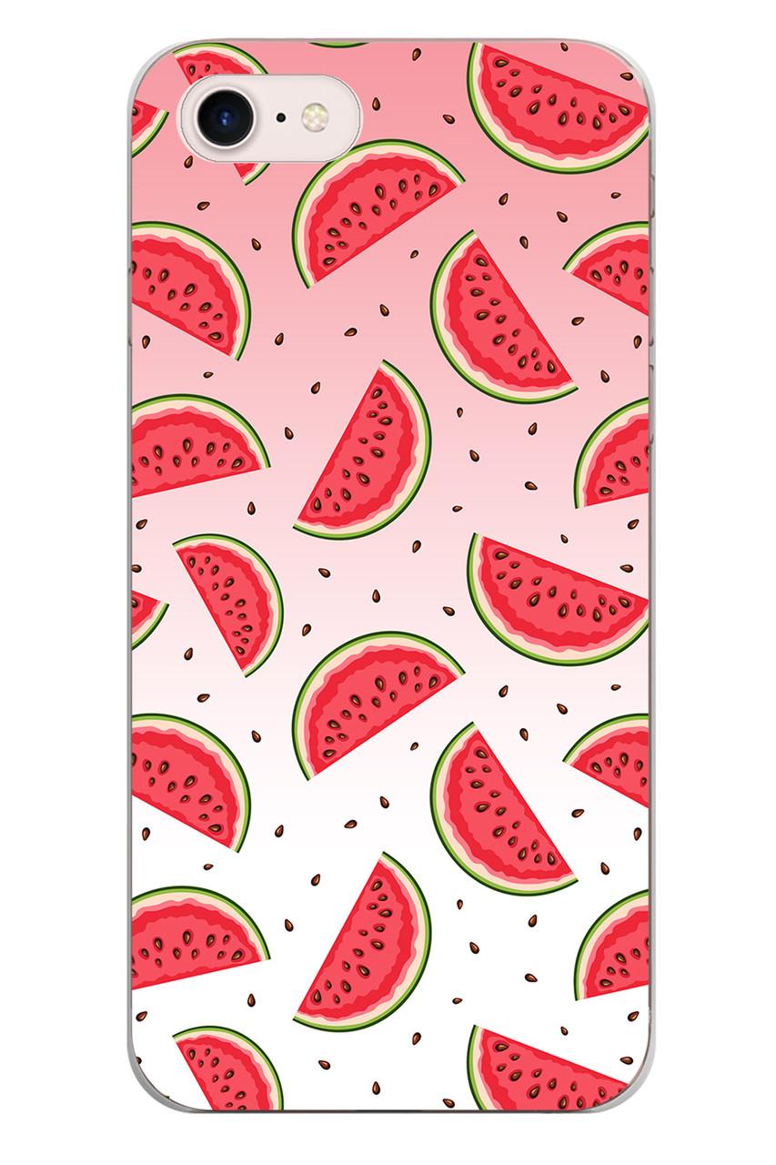 Чехол Print fashion для iPhone 8 с принтом Арбузы (r_i 108)