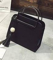 Стильная женская сумочка  бордо с металлическими ручками