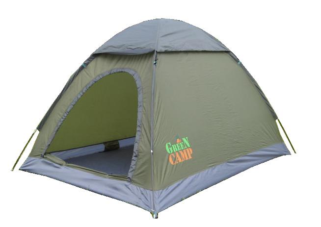 Туристическая палатка Green Camp 1503 2-х местная. 2-х слойная