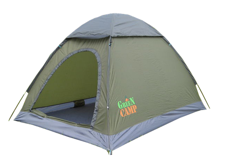Туристическая палатка Green Camp 1503 2-х местная. 2-х слойная, фото 2