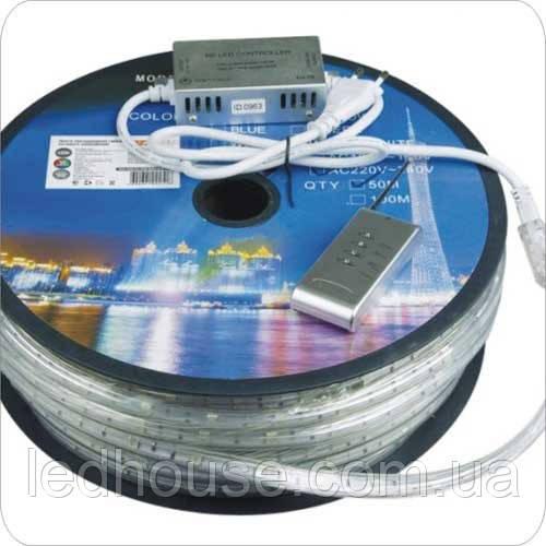 Світлодіодна стрічка RGB 3528/60 led 220V IP68