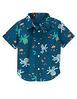 Детская рубашка для мальчика  6-12   месяцев