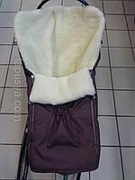 Дитячий зимовий конверт на овчині, фото 1