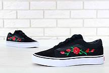 Женские кеды Vans Old Skool B Roses, женские кеды, ванс . ТОП Реплика ААА класса., фото 3