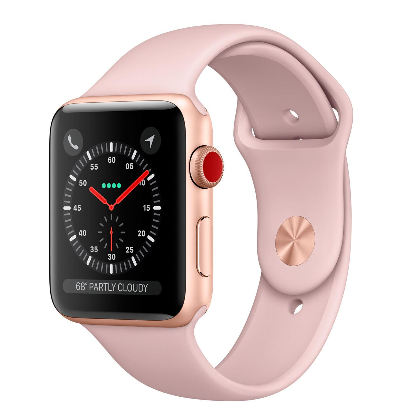 Apple Watch Series 3 GPS + Cellular 38 мм Gold Case with Pink Band (MQ
