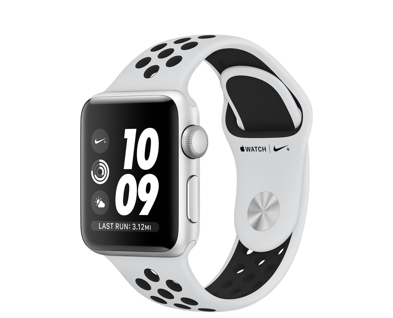 Apple Watch Series 3 GPS 38 мм Silver Aluminum Case with Pure Platinum