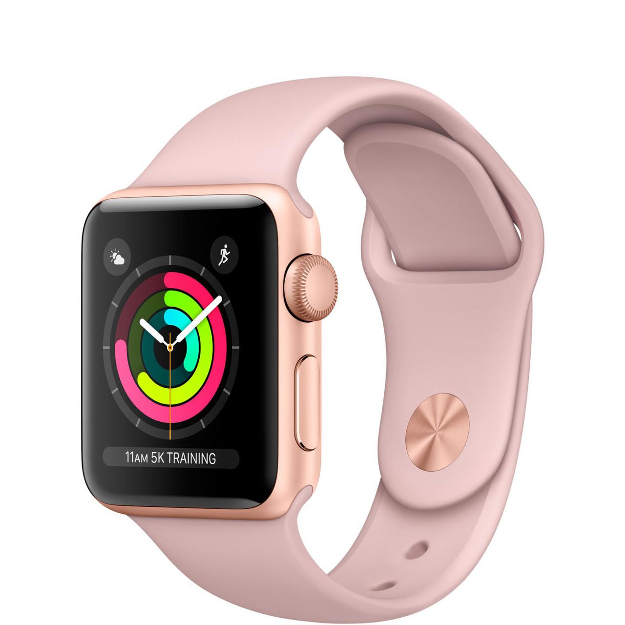 Apple Watch Series 3 GPS 42 мм Gold Aluminium Case with Pink Sand Spor