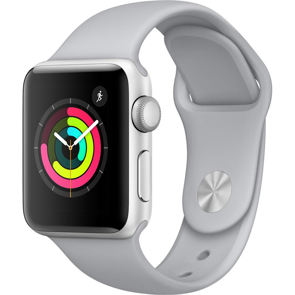 Apple Watch Series 3 GPS 38 мм Silver Case with Fog Band (MQKU2)