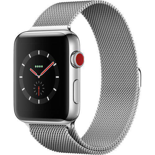 Apple Watch Series 3 GPS + Cellular 42 мм Stainless Steel Case with Mi