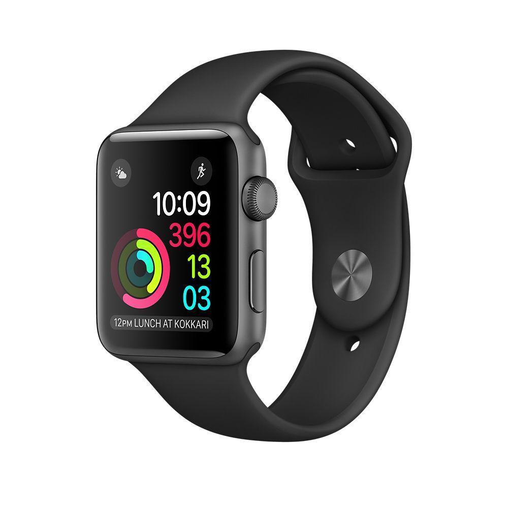 Apple Watch Series 2 42 мм Space Gray Aluminum Case with Black Sport B