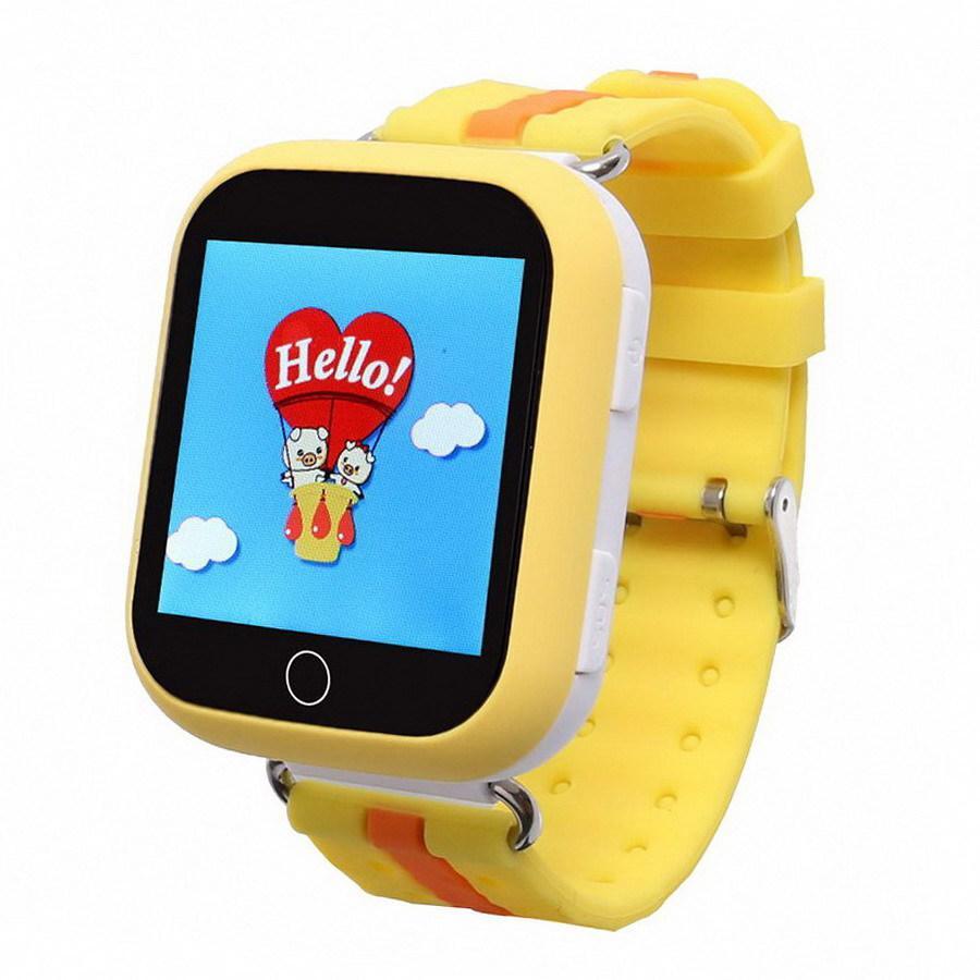 Умные детские часы Baby Smart Watch Q100s Желтые (hub_JivZ96384)