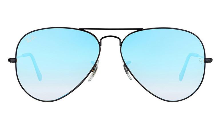 Солнцезащитные очки Ray-Ban Aviator Flash Lenses Черно-голубой (RB3025