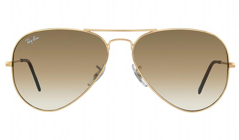 Солнцезащитные очки Ray-Ban Aviator Large Metal Коричневый с золотисты