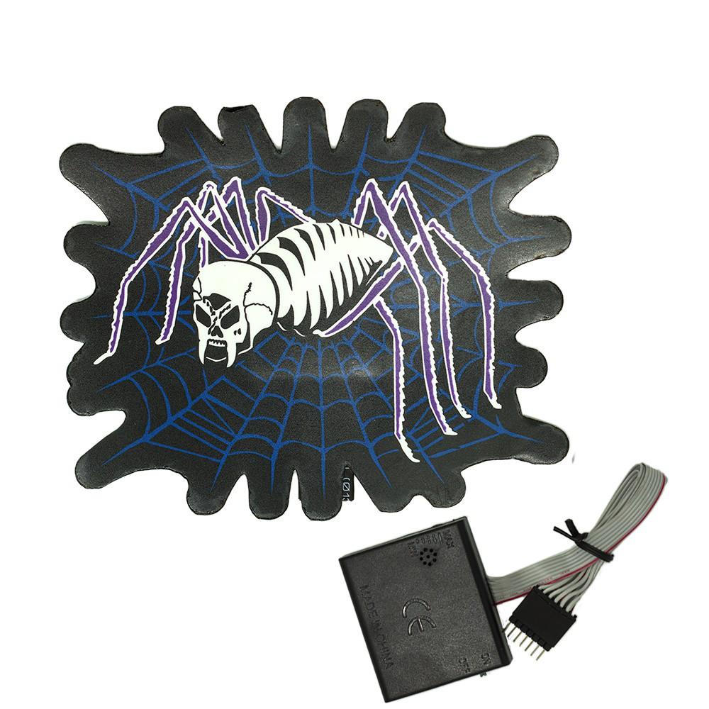 Наклейка светящаяся с эквалайзером Паук