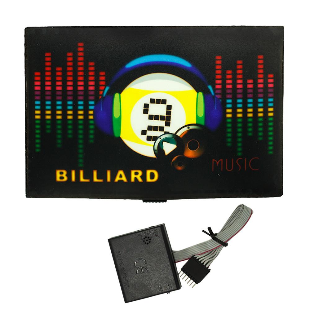Наклейка светящаяся с эквалайзером Billiard