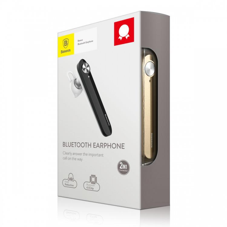 Гарнитура Bluetooth Baseus A01 Earphones Золотой (NGA01-0V)