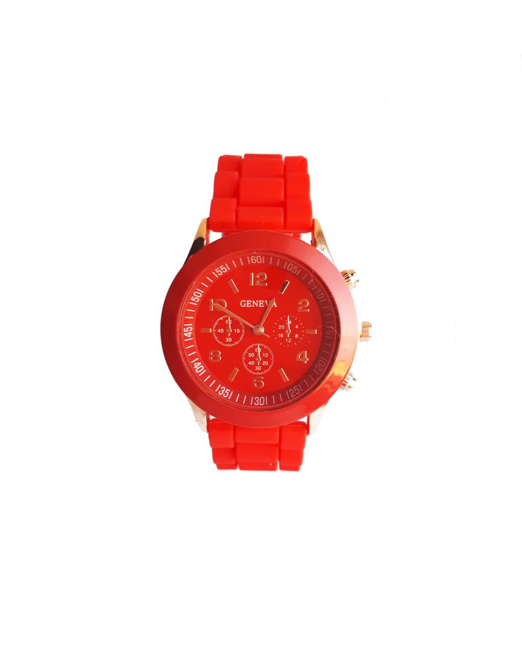 Часы женские Geneva Silicon Красные