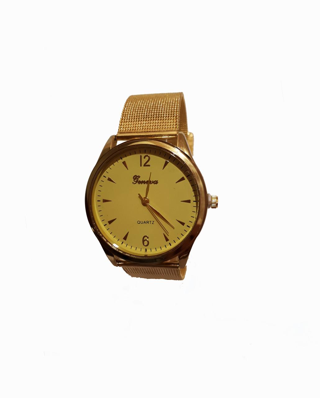 Часы женские Geneva  Gold желтые
