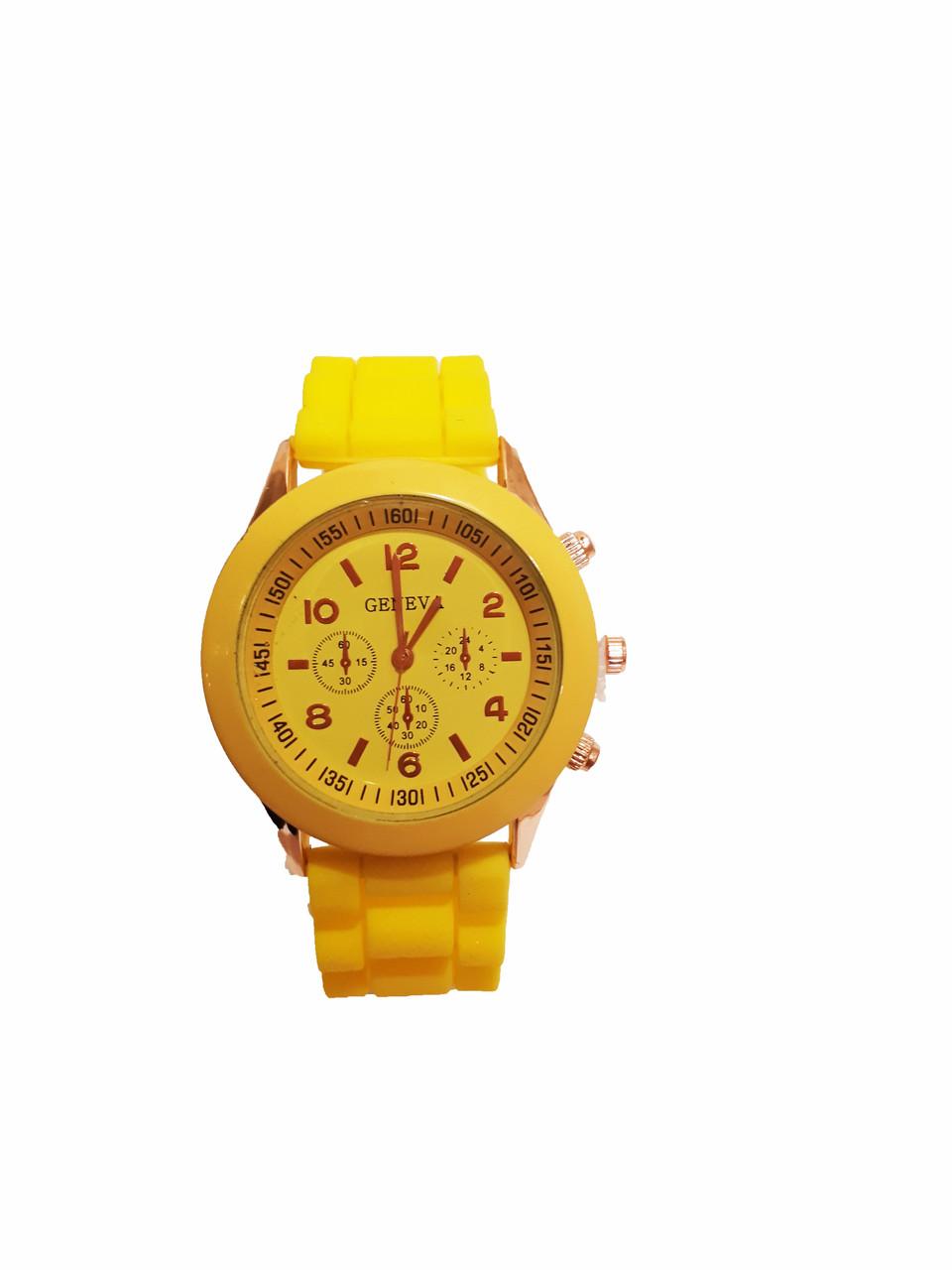 Часы женские Geneva Silicon Желтые