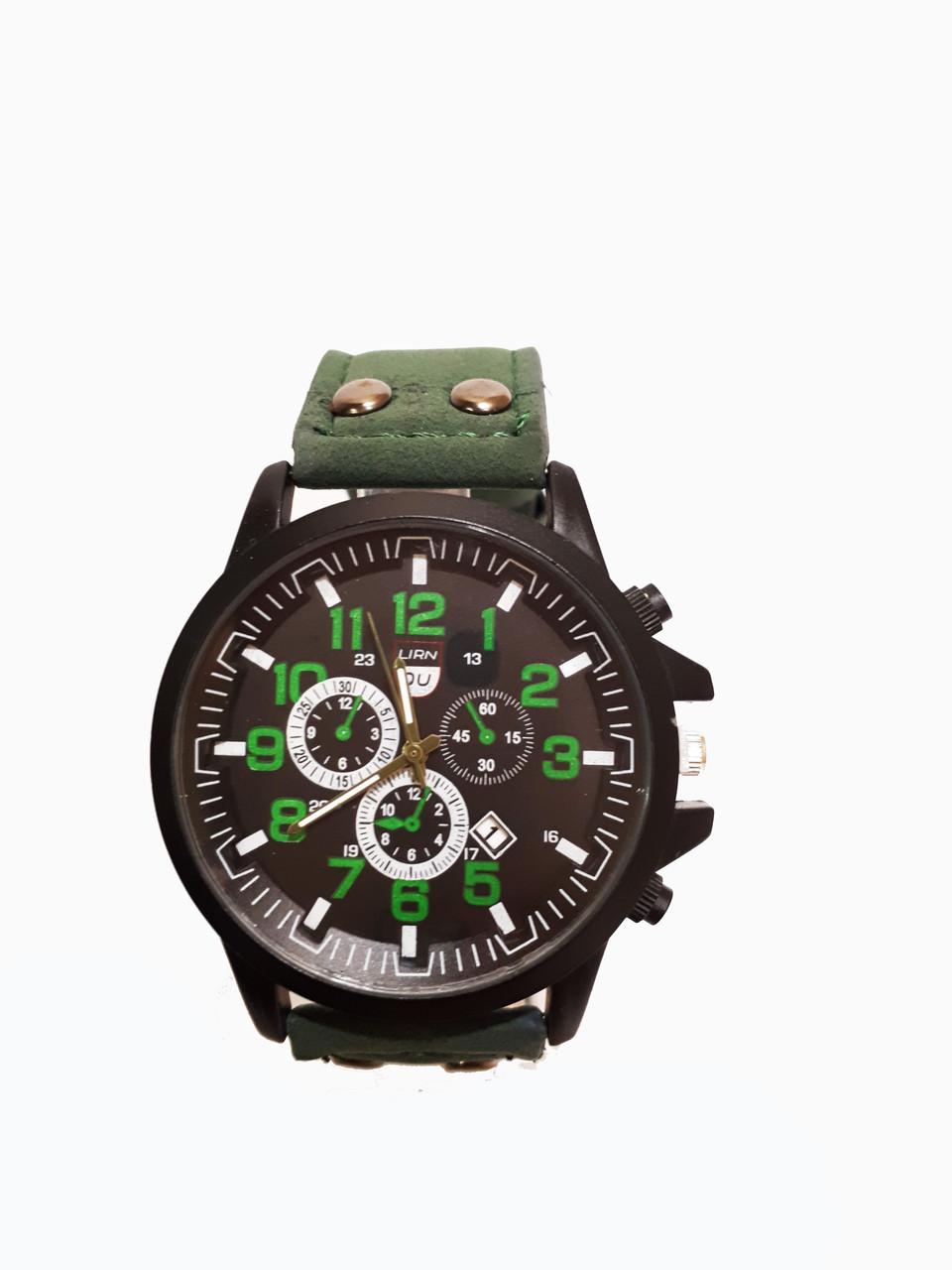 Часы мужские кварцевые DU Зеленые (DU-030Gr)