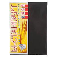 Бумага A4 'М-Стандарт ' ТЕМНЫЕ ТОНА 100 листов /80гр  № 401 ( Black ) Черный