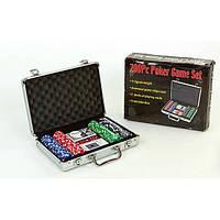 """Игра настольная №IG-4392-200""""Набор для покера 200 предметов профессиональная (керамические фишки деревянная коробка)"""