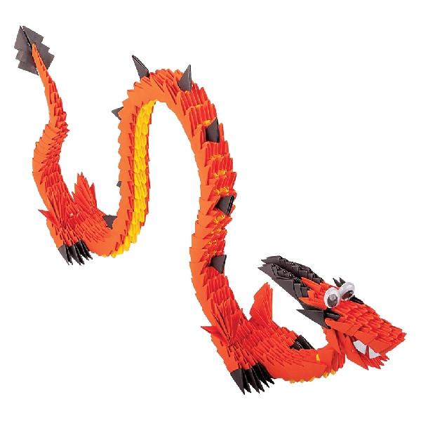 """Модульное оригами_""""Китайский огненный дракон"""" арт.ОМ6012"""