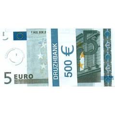 """Пачка денег (сувенир) №001 Евро """"5"""""""
