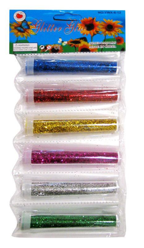 БЛЕСТКИ-присыпка в банке Pasco GL-001 (6.5 гр.) 6 цв./48 шт Мелкий глитер-песок/48уп, 1152ящ