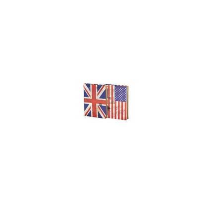 Блокнот JGHY-251051-7010 (14.6*20.9см) Британский /Американский флаг, фото 2