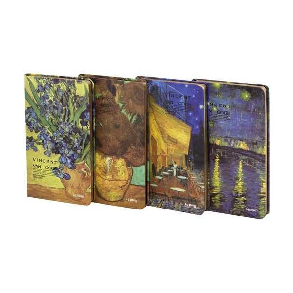 Блокнот LYH50965-2630D (105*184) 96 листов Van Gogh (с золотым напылением)